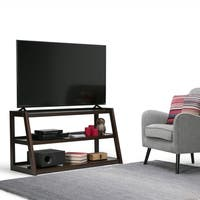 WYNDENHALL Hawkins Solid Wood 48 inch Wide Modern Industrial TV Media Stand For TVs up to 50 inches - 48 Inch in width