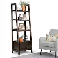 WYNDENHALL Hawkins Ladder Shelf with Storage