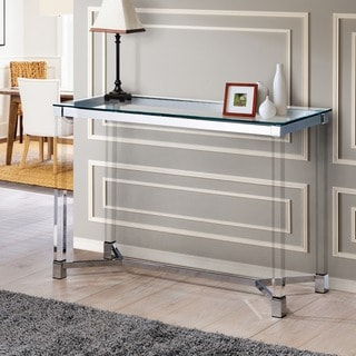 Furniture of America Vizi Contemporary Chrome Acrylic Sofa Table