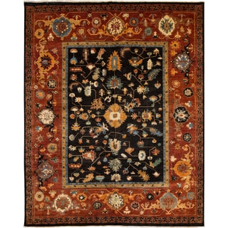 Afghani ARZU Eminence Hand-knotted Wool Area Rug (8' x 10')