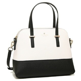 Kate Spade Cedar Street Maise Black and Cement Leather Satchel