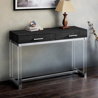 Repta Contemporary Crocodile Textured Storage Sofa Table by FOA