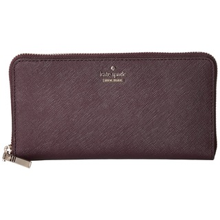 Kate Spade Cameron Street Lacey Brown Leather Clutch Wallet