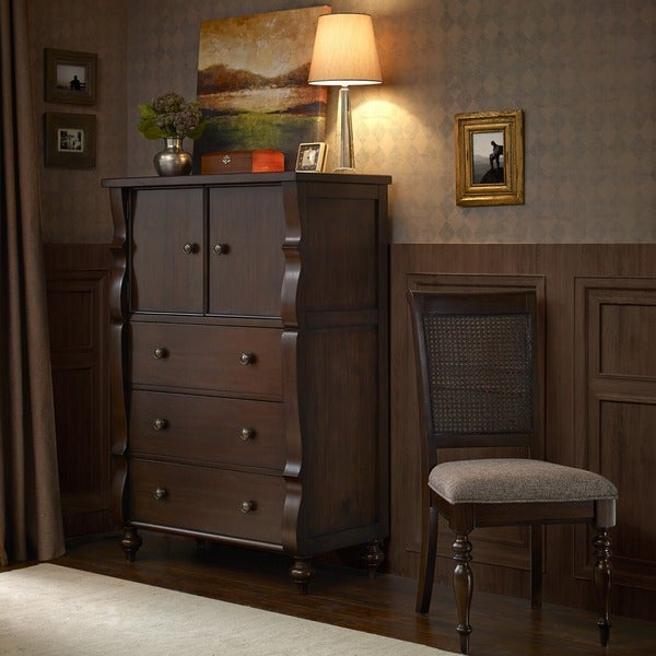 Madison Park Signature Beckett Morocco Brown Highboy Chest
