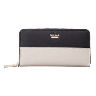 Kate Spade Cameron Street Lacey Black and Pebble Leather Wallet