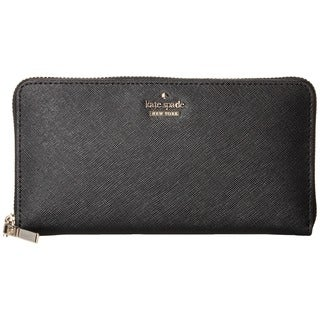 Kate Spade Cameron Street Lacey Black Leather Clutch