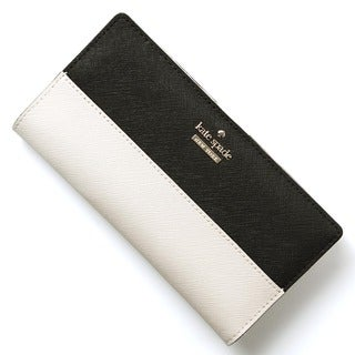 Kate Spade Beige/Black Leateher Pebble Wallet