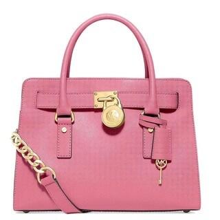 Michael Kors Hamilton East/West Saffiano Misty Rose Satchel Handbag