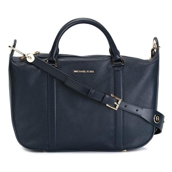 711fdb1294d1 Shop Michael Kors Raven Large Admiral Satchel Handbag Free