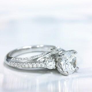 Lihara and Co. 18K White Gold 0.56ct TDW Diamond Fashion Ring