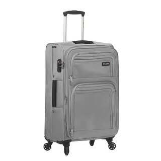Mia Toro Italy Cortina Solid-colored Polyester 24-inch Expandable Spinner Upright Suitcase