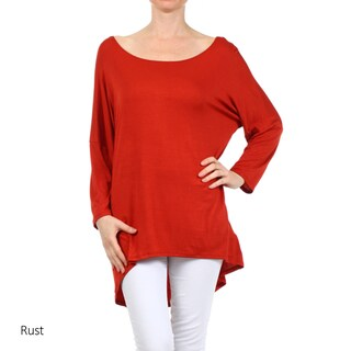 Women's Solid Rayon and Spandex Long-sleeve Tunic (More options available)