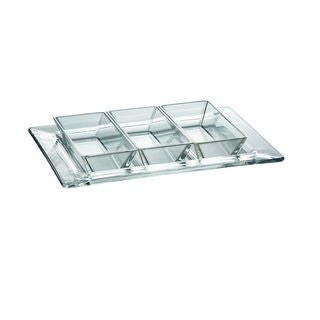 Majestic Gifts Clear Glass 9.4-inch x 7.1-inch Dish Set