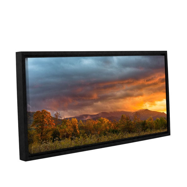 Tom Croce's ' Cades Cove Sunset' Gallery Wrapped Floater-framed Canvas
