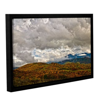 Tom Croce's ' Storm Clouds' Gallery Wrapped Floater-framed Canvas