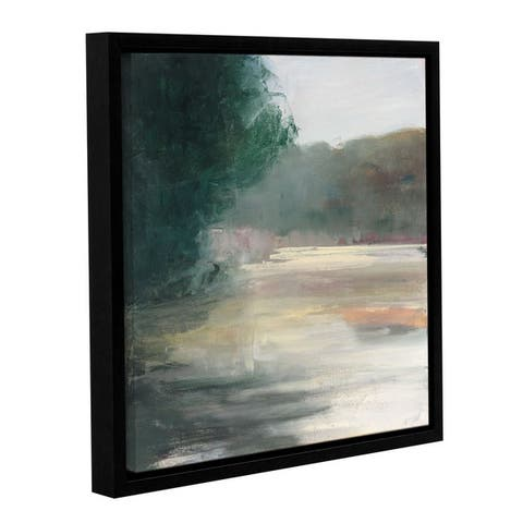Julia Purinton's 'Gosling' Gallery Wrapped Floater-framed Canvas - Green
