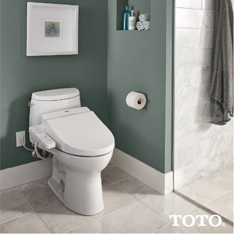 Toto WASHLET A100 Electronic Bidet Toilet Seat with SoftClose Lid, Elongated, Cotton White (SW2014#01)