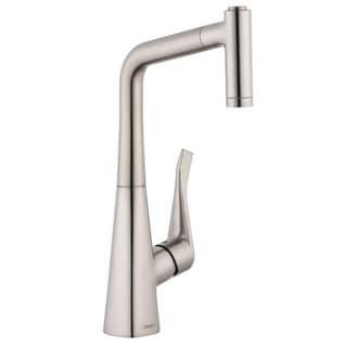 Hansgrohe HG Metris HighArc Prep Kitchen Faucet AZB Steel Optik