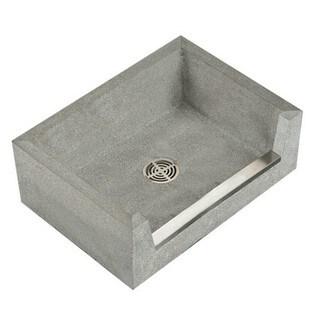 Fiat Terrazzo Marble Utility Sink in Grey
