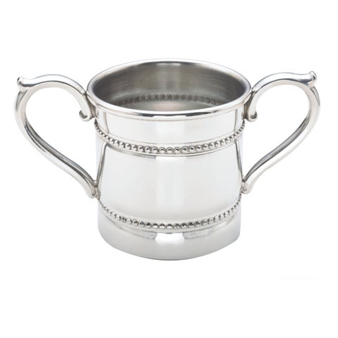 Reed and Barton Silvertone Pewter Baby Bead Two-handled Cup