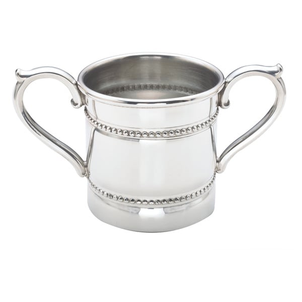Reed and Barton Silvertone Pewter Baby Bead Two-handled Cup - Silver