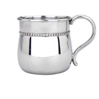 Reed and Barton Pewter Beaded Border Baby Cup