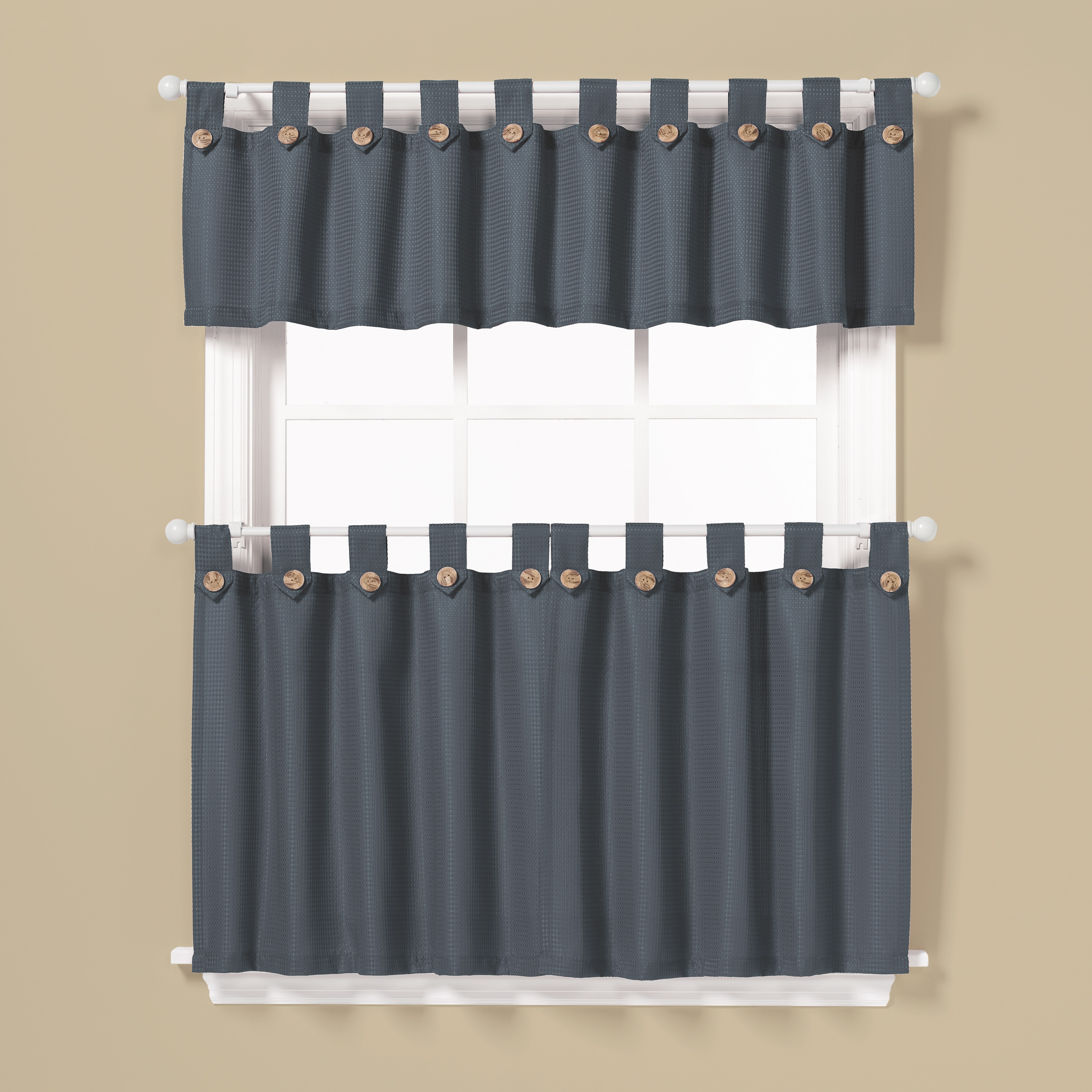 Saturday Knight Pacifica Window Curtain Tier Pair and Val...