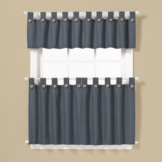 Pacifica Window Curtain Tier Pair and Valance Set 36-Inch