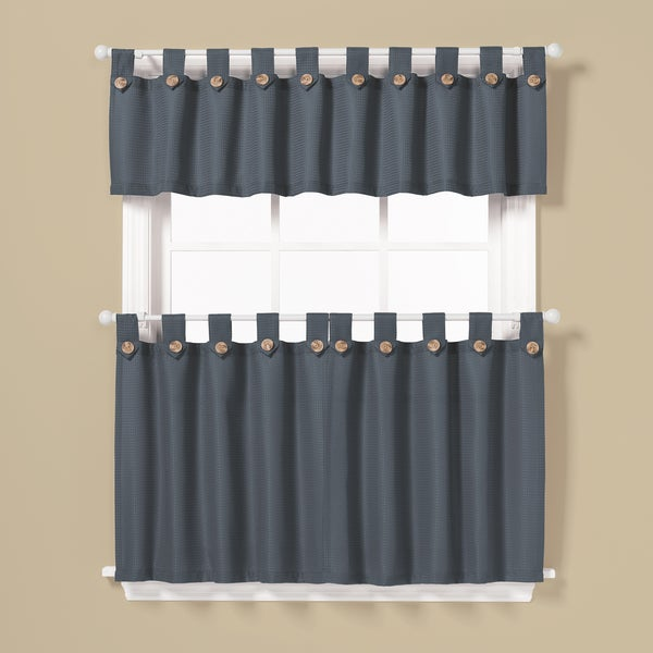 Saay Knight Pacifica Window Curtain Tier Pair And Valance Set 36 Inch