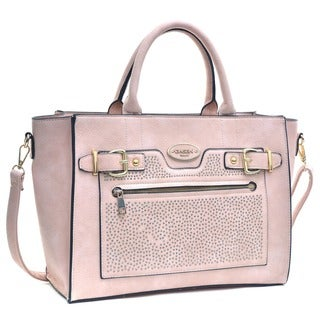 Dasein Studded Belted Medium Tote Bag