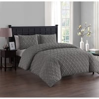 VCNY Lattice Embossed Duvet Set