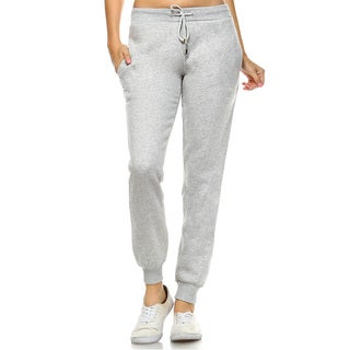 White Mark Women's Casual Pull-on Jogger Pants
