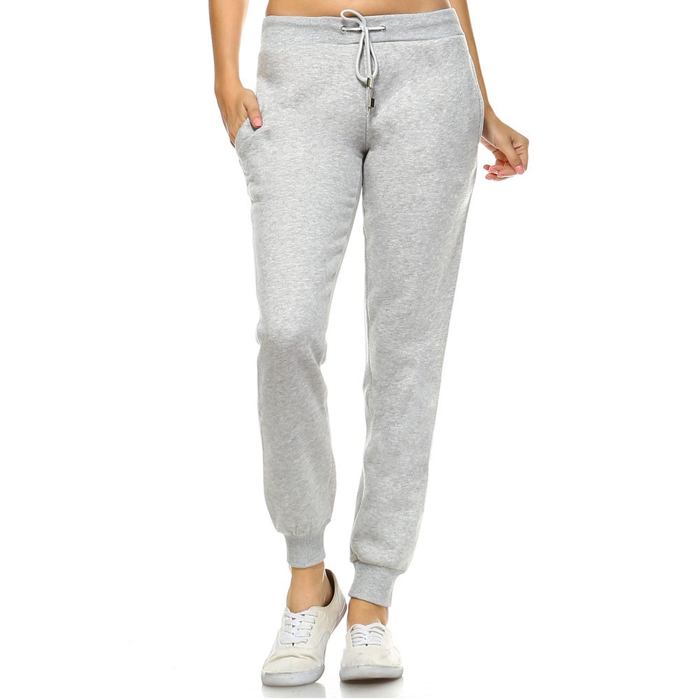White Mark Womens Casual Pull-on Jogger Pants