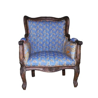 Blue Unique Vintage Kantha Armchair (India)
