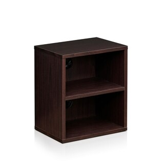 Furinno Indo FLS-4030EX Espresso MDF 3-tier Petite Audio Video Display Shelf