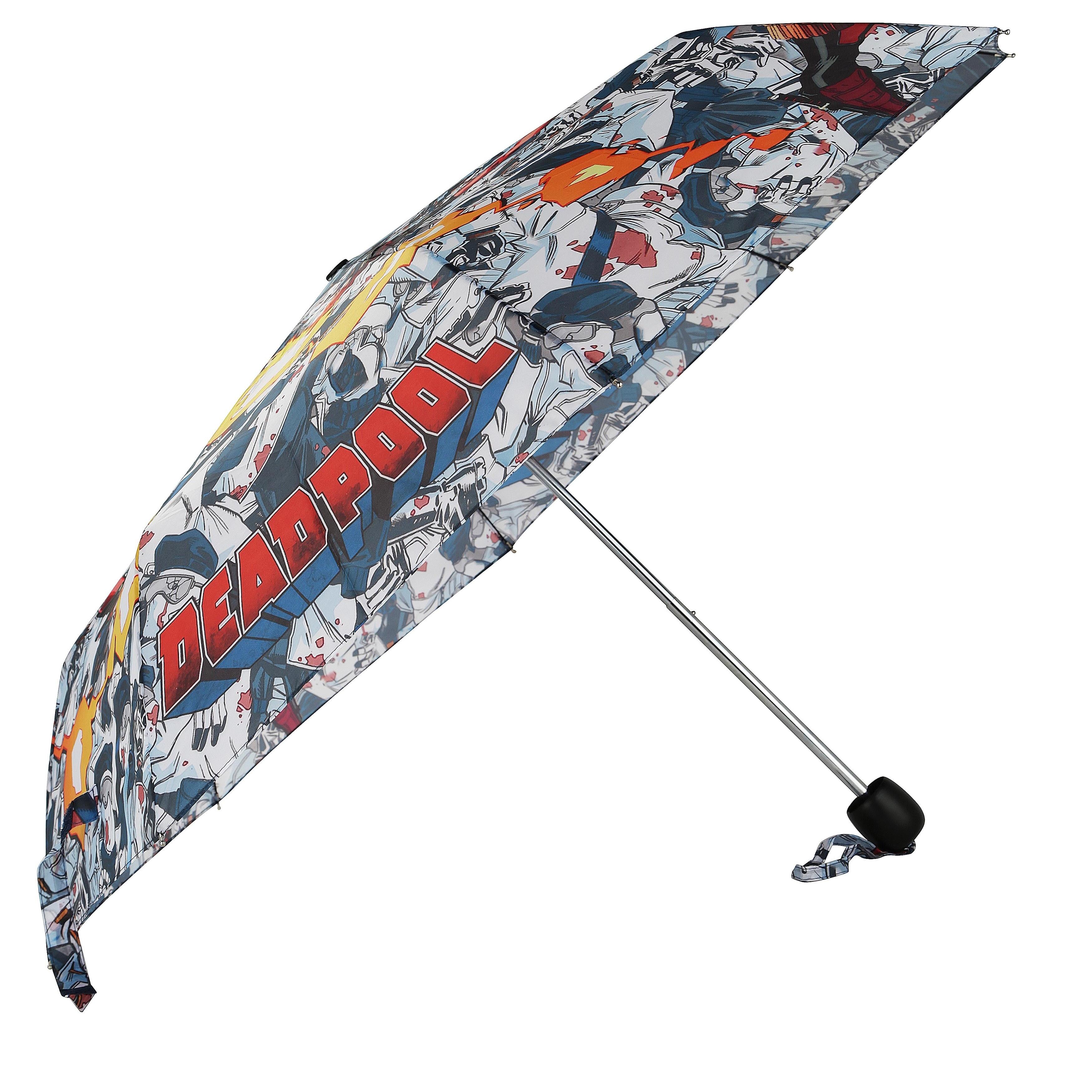 Dc Comics Marvel Deadpool Adult Compact Umbrella (One Siz...