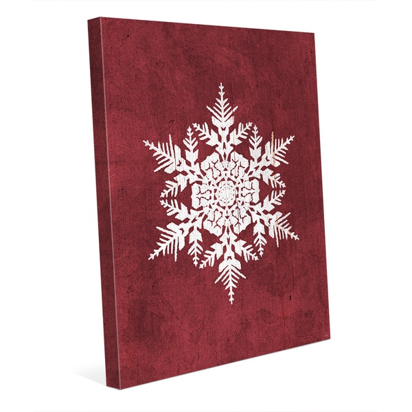 Cinnamon Snowflake Canvas Wall Art