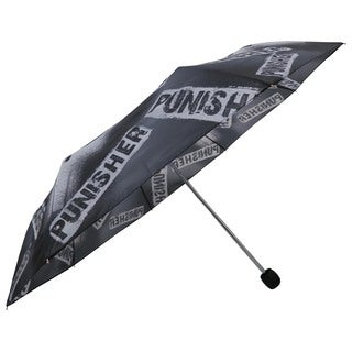 Marvel The Punisher Black Polyester/Metal Adult Compact Umbrella