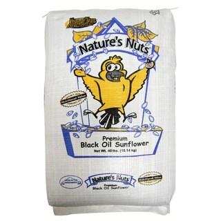 Natures Nuts 40 Lbs Premium Black Oil Sunflower Bird Seed