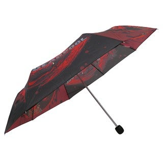 DC Comics Marvel Splatter Deadpool Red/Black Polyester/Metal Compact Umbrella