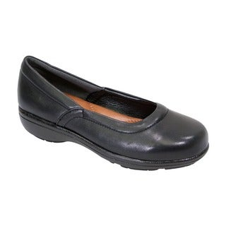 FIC Peerage Women's Vicky Black Nappa Leather Extra-wide Loafer