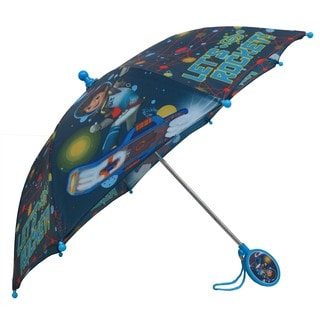 Disney Boys' Miles From Tomorrowland Blue Polyester Umbrella with 3D Handle