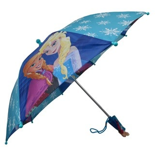 Disney Frozen Anna and Elsa Turquoise and Purple Umbrella