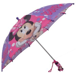 Disney Minnie Mouse Boutique Pink and Purple Polka Dot Polyester Umbrella