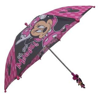Disney Minnie Mouse Bowtique Girls Pink/Black Umbrella