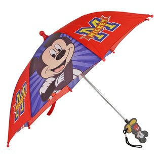 Disney Mickey Mouse Boys' Red and Blue Polyester Umbrella