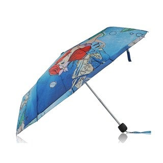 Disney Princess Ariel Multicolor Polyester Compact Umbrella