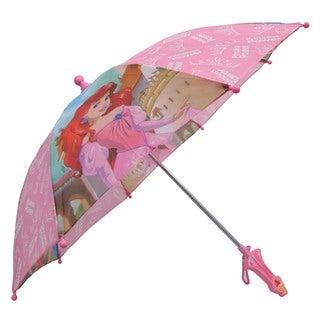 Disney Princess Aurora Ariel Pink Polyester Umbrella