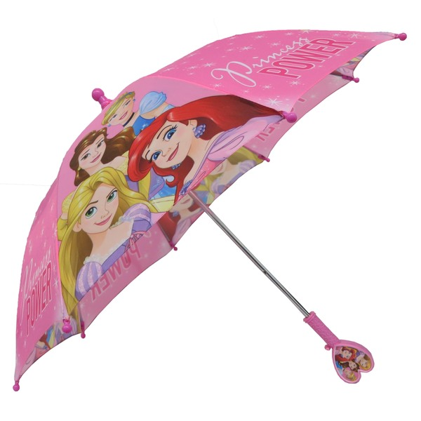 Disney Princess Girls Princess Power Umbrella - Heart Shaped Handle