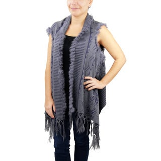 Handmade Saachi Women's Geometric Open Front Vest (China)